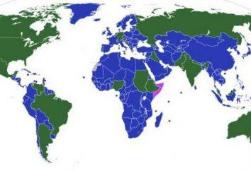 Liste der Einheitsstaaten: die Gerätefunktionen der verschiedenen Länder