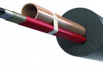 tuyaux pour câble chauffant auto-régulation: vue d'ensemble, types, caractéristiques et montage commentaires