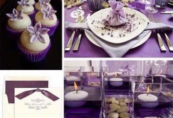Wenn Sie sich entschieden haben, dass Sie eine lila Hochzeit haben