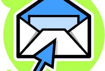 breves instrucciones sobre cómo enviar correo a través de correo electrónico