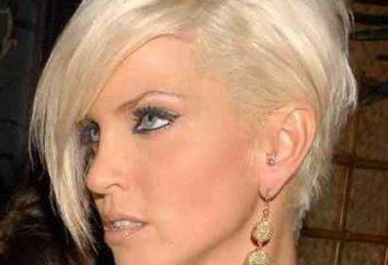 Belle coupe de cheveux asymétrique. Dissymétrie dans les coiffures: photo