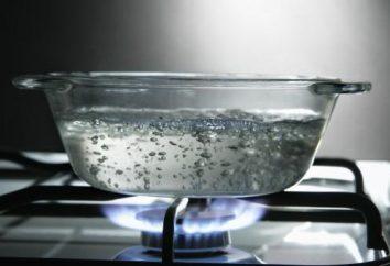 Uszkodzenie i korzyści z wrzącej wody. Powtarzające się wrzątek