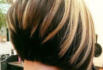 Koszenie ukonczone bob bob w ośrodku, długie i krótkie włosy: Photo
