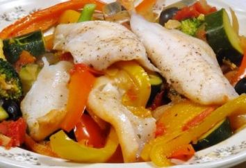 Une recette très utile: poisson cuit à la vapeur avec des légumes et orientale