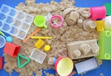 Jak zrobić kinetyczną piasku z rękami: skład i technologię