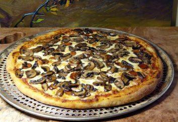 Pizza z pieczarkami: opcje testowe, wypełniających najbardziej odpowiedni sos