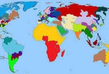 geografía económica. Regiones del mundo