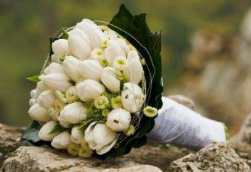 Piękny bukiet tulipanów wesele