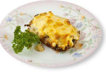 Jak gotować mięso w piekarniku w języku francuskim pod kapelusza grzyba