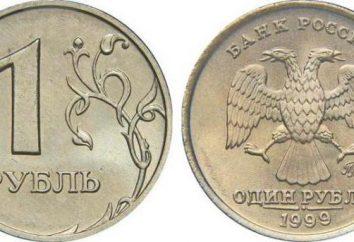Quanto costa 1 rublo nel 1999? Descrizione e valore delle monete