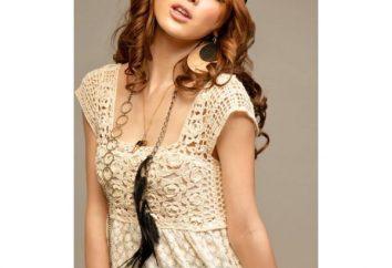 sukienka ażurowe, szydełkowane