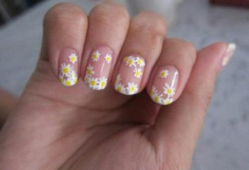 Piękne lato manicure: Rumianek na paznokciach
