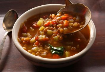 soupe végétarienne de lentilles: une recette avec une photo