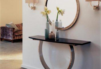 Table console à l'intérieur
