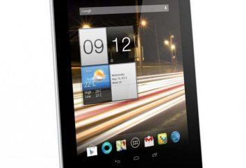 Tablette Acer A1-810: description, caractéristiques techniques, critiques