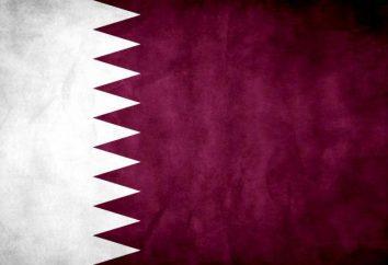 El escudo de armas y la bandera de Qatar. Descripción y el valor de los símbolos oficiales