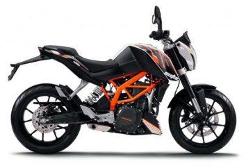 KTM Duke 390: especificações e comentários. Quanto é uma moto de motocross