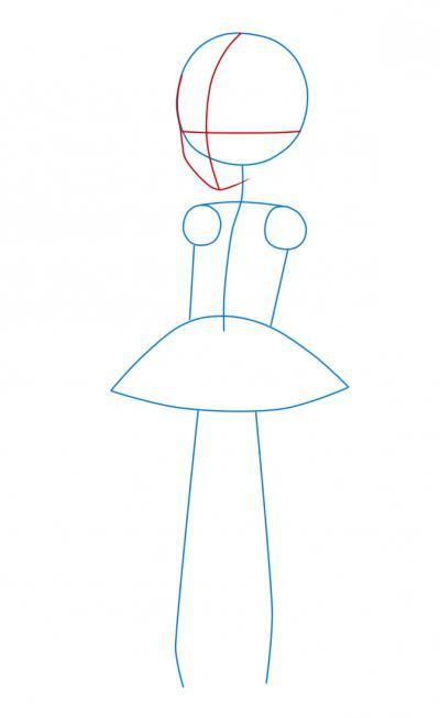 mädchen im kleid zeichnen