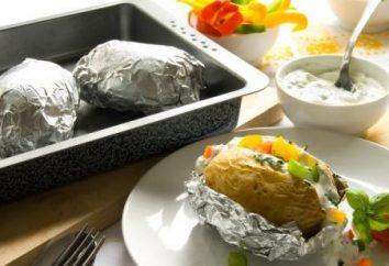 Cocer las patatas en papel de aluminio en el hogar