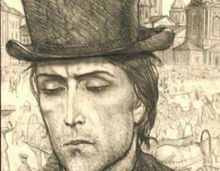 """Raskolnikov no livro """"crime e Castigo"""" por F. M. Dostoevskogo"""