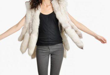 Un gilet de renard polaire est une chose élégante et à la mode dans une armoire femme