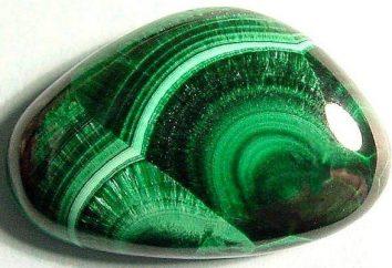 Malachite pierre: les propriétés et caractéristiques