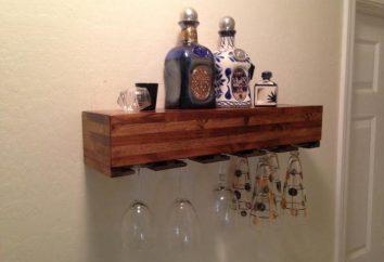 Półka na wino z własnych rąk: Ciekawe pomysły