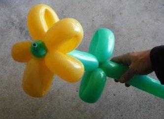 A figura de balões – uma grande decoração do feriado