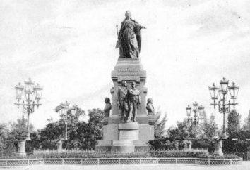Pomnik Katarzyny 2 w Symferopolu: ożywienie legendarnego rzeźby