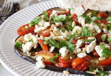 Faire une salade d'aubergines et de tomates, et le fromage