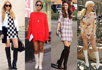 stivali lunghi con tacchi e senza i talloni: cosa indossare