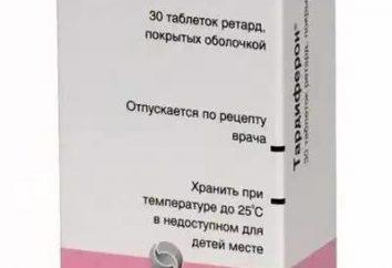 """Il farmaco """"Tardiferon"""": recensioni, istruzioni per l'uso"""