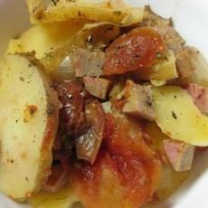 Jak gasić ziemniaków z mięsem i warzywami