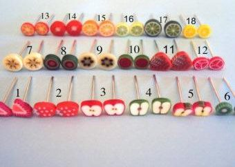 Orecchini realizzati in plastica: Juicy Limoni