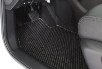 Tapis de voiture Eva-drive: vue d'ensemble, description, caractéristiques et commentaires