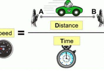 La formule de « la vitesse, le temps, la distance. » Comment résoudre le problème?