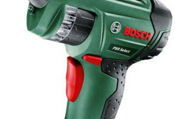 visseuse sans fil Bosch PSR Select: description, spécifications, commentaires