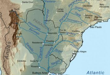 Fluss Paraná: die Quelle und die Art der Strömung