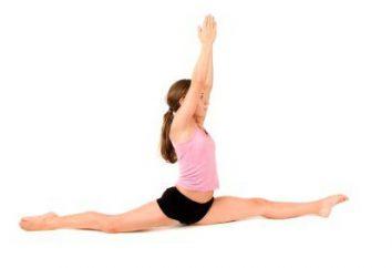 Wie tun die Spalten für 10 Tage? Stretching und Trainingsprogramm für die schnellen Bindfaden zu Hause