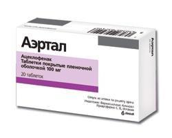 """Oznacza """"Aertal"""". Instrukcje użytkowania. Tabletki: Opis preparatu"""