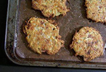 Cozinhar panquecas de batata no forno
