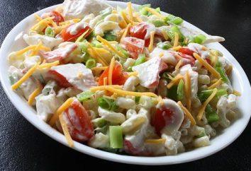 Saladas com carne de caranguejo em feriados e em dias de semana