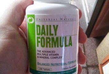 Fórmula vitaminas diaria: descripción, composición, modo de empleo y la retroalimentación