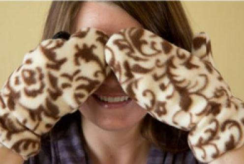 Muster Fäustlinge Fleece. Wie nähen Handschuhe Fleece