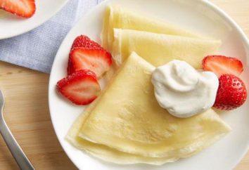 crêpes fines, ou des crêpes: recettes et caractéristiques de cuisine