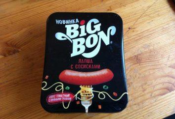 """Nudeln """"Big Bon"""" mit Wurst: Zusammensetzung, Verpackung, Vorbereitung"""