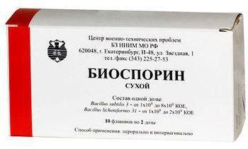 """""""Biosporin"""": instrucciones de uso, bienes"""