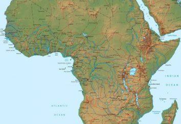 Position géographique et la nature de l'Afrique. Alors que l'Afrique est le continent par rapport aux autres continents?