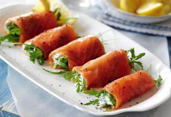 Rouleaux de poisson rouge: recettes et variations des garnitures