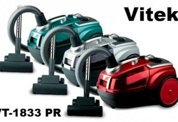 odkurzacz VITEK VT-1833: opis, filtr i opinie właścicieli